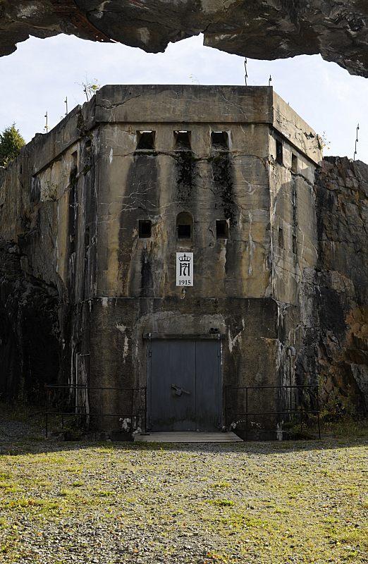 Inngangspartiet til reduiten ved Høytorp fort